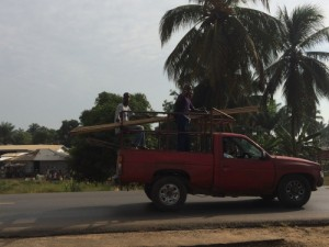 Photo of men on a truck in Liberia