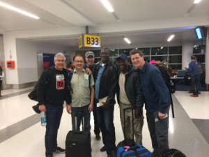 Pastors at the airport in New York