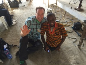 Photo of Gary with a Liberian